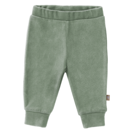 Broekje velours forest green