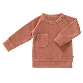 Sweater velours ash rose // maat 6-12 maand