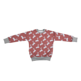 Sweater konijn oudroze